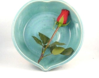 Large Heart Shaped Ceramic Serving Bowl in Blue - Wedding or Anniversary Gift - Engagement - New Job or Home