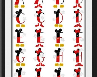 Custom initial boy or girl mouse  Mickey Minnie free ship