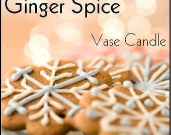 Ginger Spice Vase Candle 2.8 oz Wax Melts - Highly Scented, Hand Poured Fresh, Premium Paraffin Soy Blend Wax Tarts, 25 Hour, Color Free