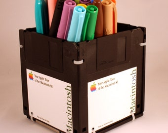 APPLE Macintosh Floppy Disk Pen and Pencil Holder