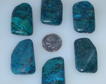 Chrysocolla Freeform Faceted Twist Beads 24x30mm, Half Strand