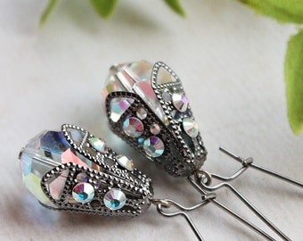 Sylvia Earrings - Silver & Swarovski