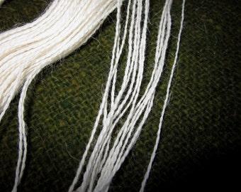 Suri Alpaca Lace Weight Yarn (Natural Soft White) 100 yards 92 meters