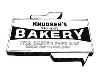 Knudsen's Bakery, Detroit Giclee Print 8x10