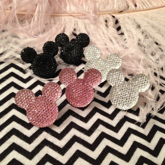 Black, Pink or Silver Mouseketeer Stud Earrings