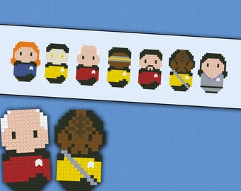 Star Trek Next Generation parody - Cross stitch PDF pattern