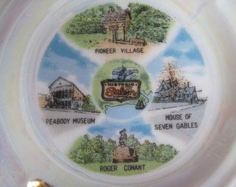 Vintage Ashtray Salem Massachusetts Souvenir Plate Home