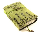 Journal, Leather, Diary, Notebook, Spring Garden