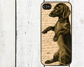 iphone 6 case Vintage Dachshund iPhone case for iphone 4,4s, iphone 5