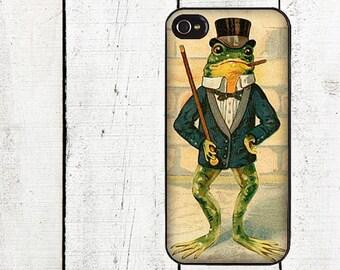 Dapper Frog Phone Case for  iPhone 4 4s 5 5s 5c SE 6 6s 7  6 6s 7 Plus Galaxy s4 s5 s6 s7 Edge