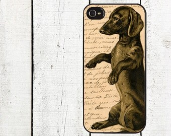 Vintage Dachshund Phone Case for  iPhone 4 4s 5 5s 5c SE 6 6s 7  6 6s 7 Plus Galaxy s4 s5 s6 s7 Edge