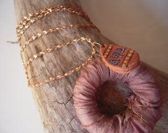 Sari Ribbon Wrapped Pendant Necklace