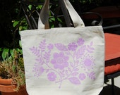 Cotton Canvas Floral Tote