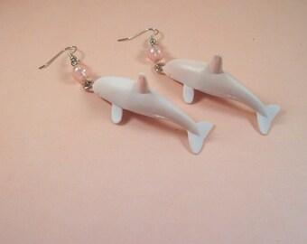 Pink Dolphin Earrings
