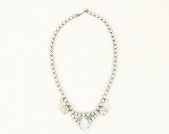 Snow Sparkle Tear Drop Bridal Necklace