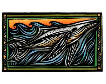 Humpback Whale, limited edition giclee