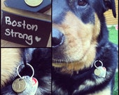 Dog Tag Boston MA Vintage Subway T Token - Simple Pet Brass Accessory for Collar - Massachusetts MASS Love that Dirty Water - Mbta
