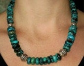 Reserved for Barb...Natural Turquoise Bead Necklace...