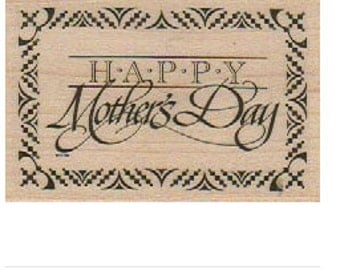 Happy Mother's Day   rubber stamps   wood mounted 18169 scrapbook supplies