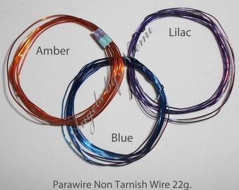 ParaWire Non Tarnish Wire 22g. for Fairy Wings - Set.2 x 3 Colors  -  For OOAK Art Dolls