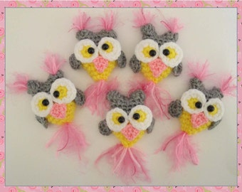 Digital Owl Milk Cap Cutie PDF Crochet Pattern by Peggytoes Jewelry Hair Decor Baby Mobil Carseat & Gym Toys and Tons More