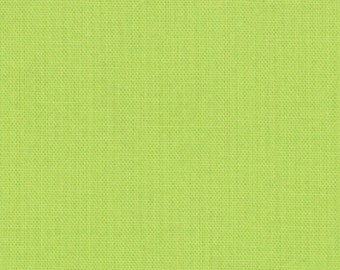House Lime Green Cotton Fabric - Modern Quilting Sewing - Moda Fabrics Bella Solids Collection - cotton Fabric by the yard