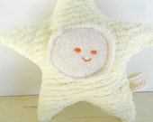 Waldorf Toy, Eco Kids Toy, Star Baby,  Plush, Natural, Eco-Friendly Baby Shower Toy