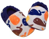 Baby & Toddler Slippers - Whale Watch (Sizes: 4-10)