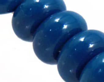 Oxford Blue Spacers, 6 glass beads
