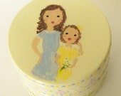 Hand Painted Love Boxes Mother Daughter Box Custom