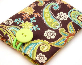 Padded Gadget Case for iPod Touch, phone or Camera-PaisleyFabric
