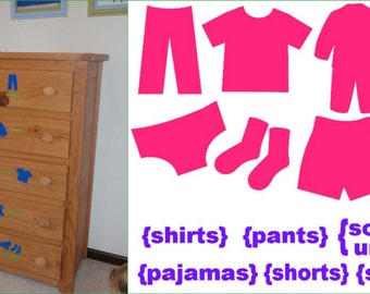 Vinyl Dresser Clothing Labels