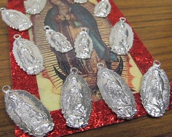 Virgen de Guadalupe Mexican Milagro Charms set of 12