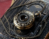 Brass Mechanical Pocket Watch 10 -on Fob or Necklace