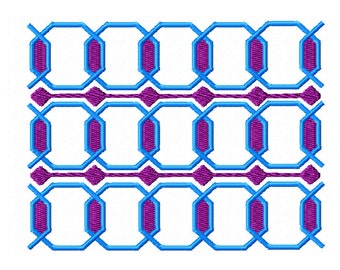 Geometric Machine Embroidery Design / Octagon repeat