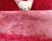 vintage rayon velvet to make mini bears recycled your choice strawberry red, watermelon pink or pink lemonade