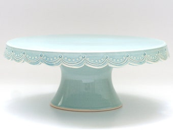 Small Cake Stand - 8 inch -  MADE TO ORDER