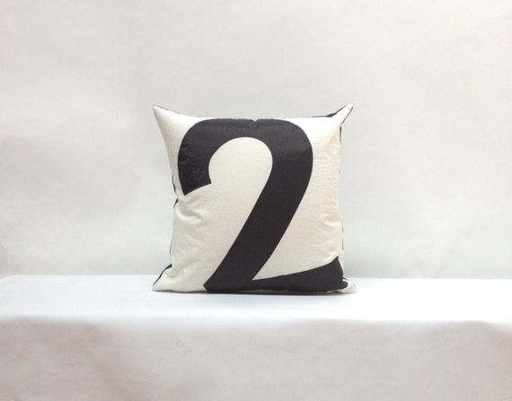 Nautical decor recycled sail pillow  - Number 2