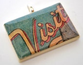 Game Piece Pendant necklace - Comic Book Jewelry - Geek Jewelry - Visit