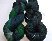 SPRING SALE 30 Percent Off -- Hand Painted Superwash Merino and Nylon 2-Ply Sock/Fingering -- Melted Popsicle Puddle (Batch-B)