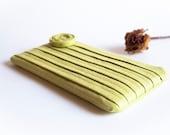 Green Wedding Clutch Purse, Bridesmaid Gift Idea Clutch purse, Light Green Tea, Romantic Rose