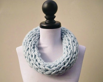 Instant Download Knitting PATTERN - Infinity Scarf Knitting Pattern - Polar Infinity Scarf and Polar Circle Scarf - Womens Accessories