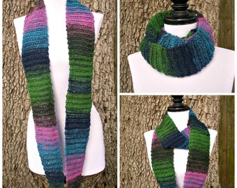 Instant Download Crochet PATTERN PDF - Crochet Cowl Scarf - Ribbed Infinity Scarf - Circle Scarf - Womens Accessories