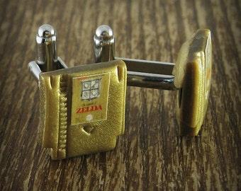 Legend of Zelda Cuff Links Nintendo Game Cartridge