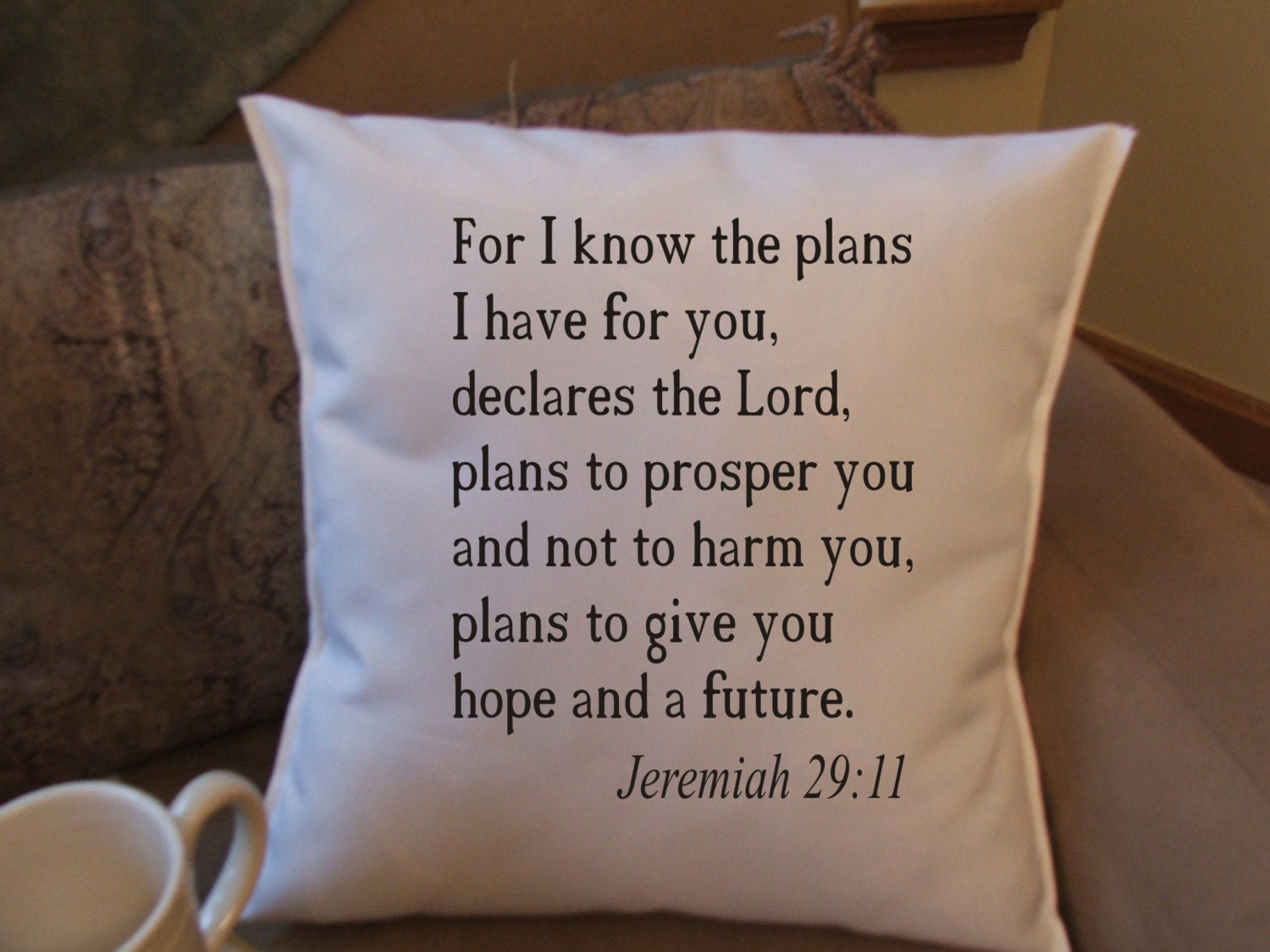 Throw Pillows With Scripture : bible verse throw pillow cover decorative throw pillow cover