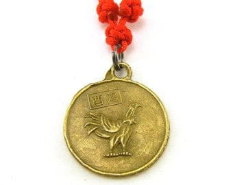 Chinese zodiac chicken rooster necklace