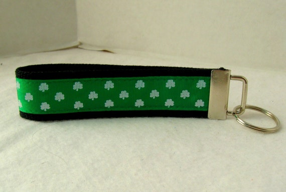 Shamrock Key Fob Clover Green Keychain St Patricks Large Key Chain