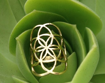 SALE • Seed of Life Galactivated Ring • Flower of Life Ring