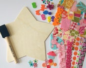 Kids Fabric Collage Craft Kit : Girl Theme/Star