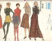 Vintage 1970s Wrap Skirt Vogue Sewing Pattern 8125